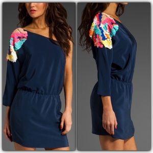 TIBI | Begonia Sequins One Shoulder Dress